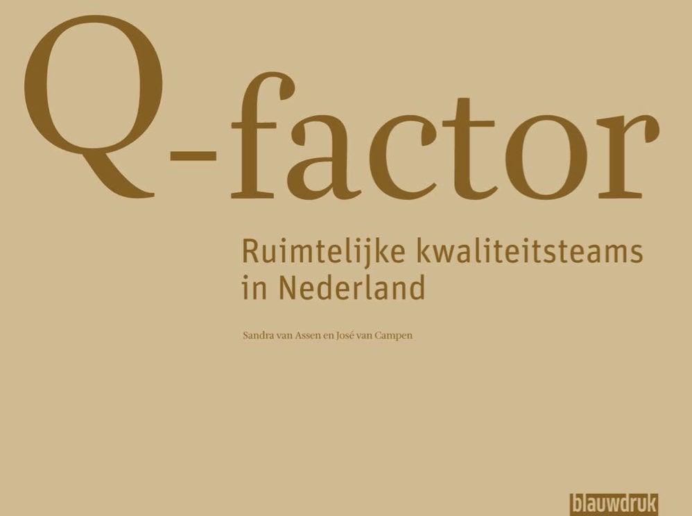 Cover Q-factor Ruimtelijke kwaliteitsteams in Nederland